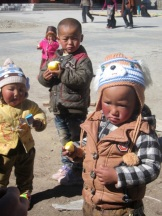 Kids at the Stupa