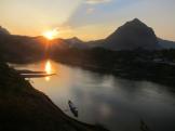 Nam Ou river from Nong Khiaw bridge