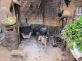 The traditional kitchen at our guesthouse