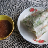 Homemade veggy spring rolls