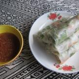Homemade veggy spring rolls