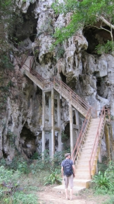 Stairs up to Pat Ok cave. USed for sheltering people when the US bombs were dropping