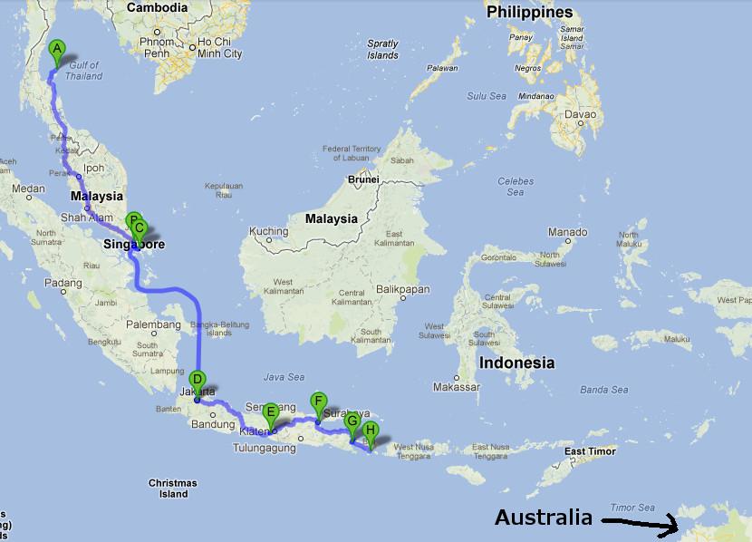 Koh Phangan to Bali (1/6)