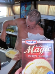 Keith makes Durian ice-cream with his Makita