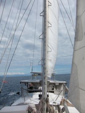 Main sail goes up