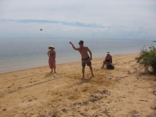 Boules on the beach