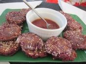 Nina's Thai purple sweet potato crab cales