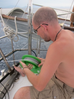 Trying the trawling line